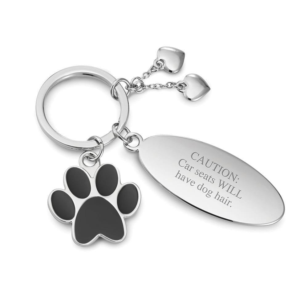 Pet Paw Charm Oval Key Chain PRE-ORDER