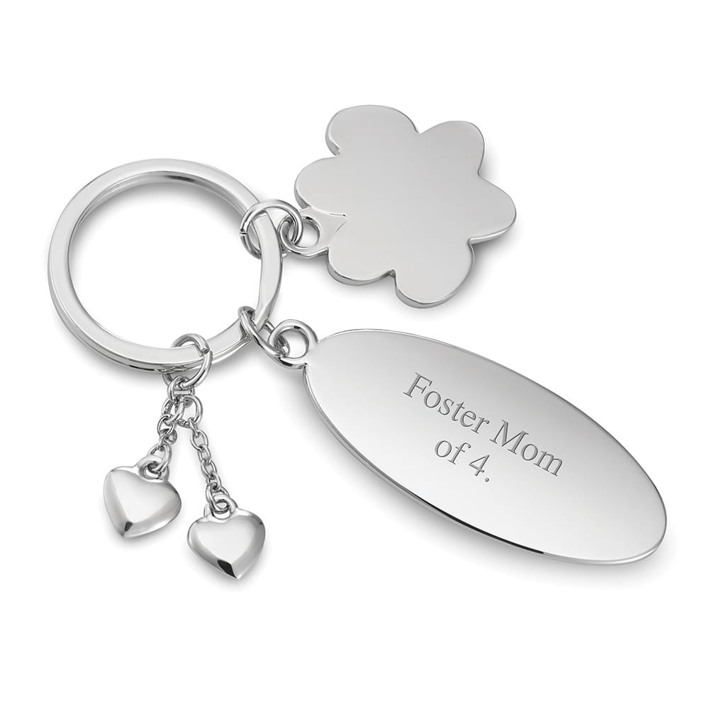 Pet Paw Charm Oval Key Chain