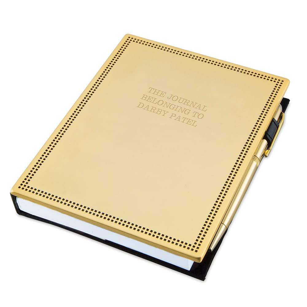 Gold Journal and Pen Set