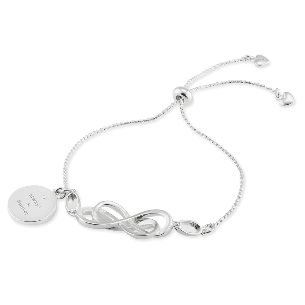 Silver Double Infinity Lariat Bracelet PRE-ORDER
