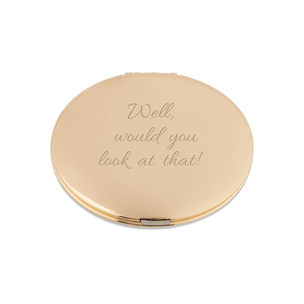 Soft Gold Round Compact