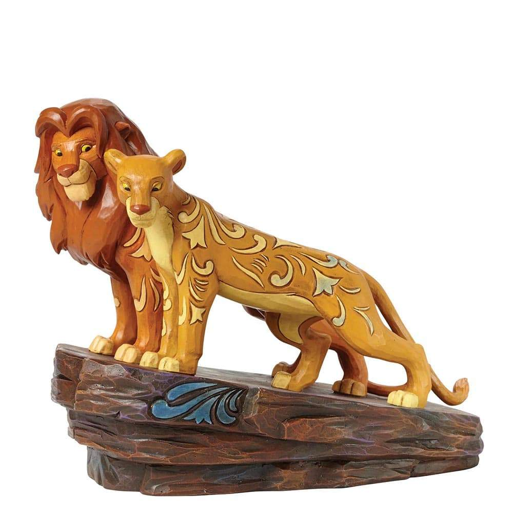 Love at Pride Rock - Simba and Nala Figurine - Disney Traditions by Jim Shore