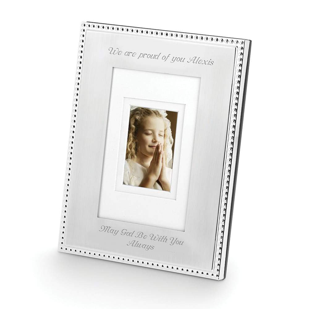 Silver Beaded Frame 4 x 6