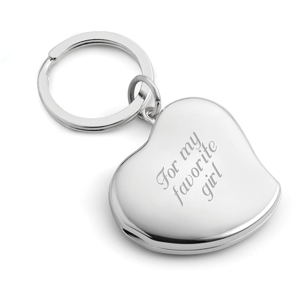 Engraved Heart Locket Key Chain PRE-ORDER