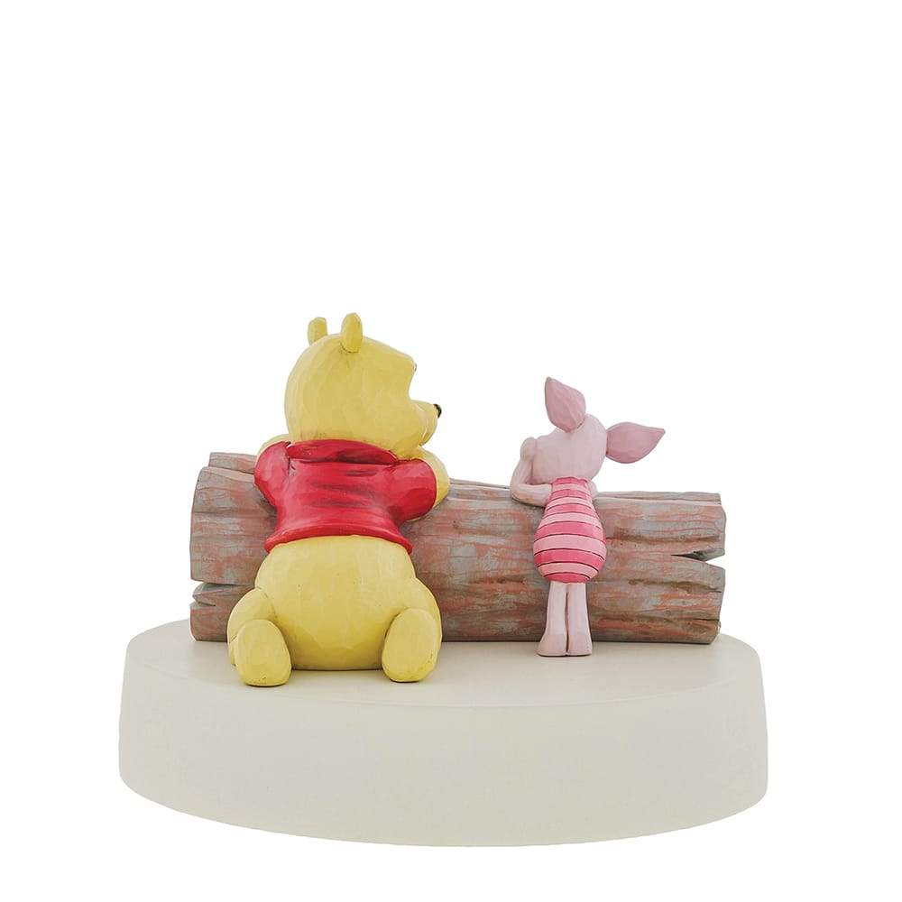 Pooh and Piglet on a Log Figurine - Disney Traditions by Jim Shore