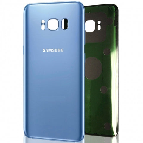 Samsung Back Glass Cover Battery Door Replacement for Galaxy S8 - Blue