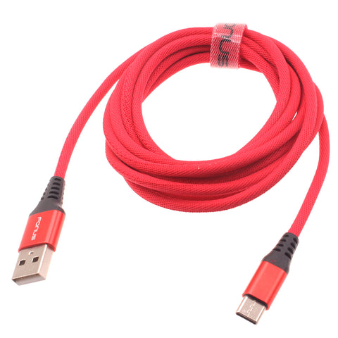 Red Braided 6ft Type-C USB Data Cable