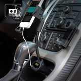 FM Transmitter Car Mount DC Charger Socket Holder - Handsfree Mic - Fonus J53