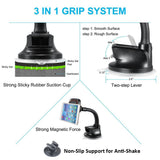 Magnetic Car Mount Holder for Dash and Windshield - Long Gooseneck - Fonus M21