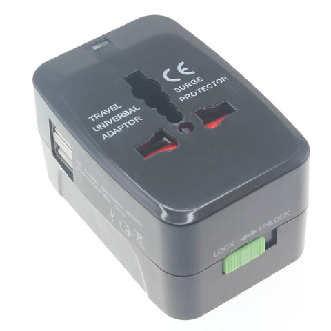 International World Travel Charger Adapter Plug 2-Port USB - J69