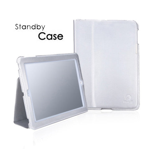 Silver PU Leather Slim Flip Case