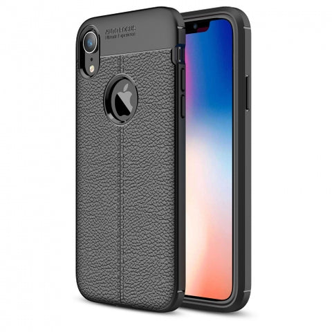 Ultra Slim TPU Leather Case Cover - Shock Absorbent - Black - Fonus L27
