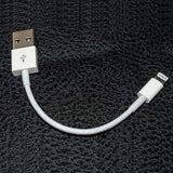 Extra Short USB to Lightning Cable Charger Cord - White - P16