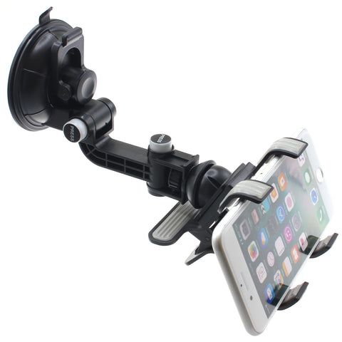 Car Mount Holder for Dash Windshield - Clipper - Multiangle Swivel - Fonus J05