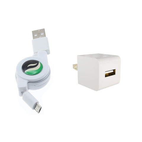 USB Home Wall Charger Retractable MicroUSB Cable - C75