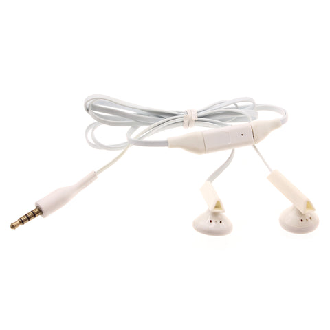 Earphones 3.5mm Headphones Wired Earbuds - White - Fonus T02