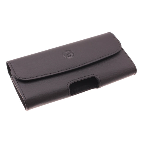 Leather Case Belt Clip Holster Cover - LCASE58 - Black - Fonus A64