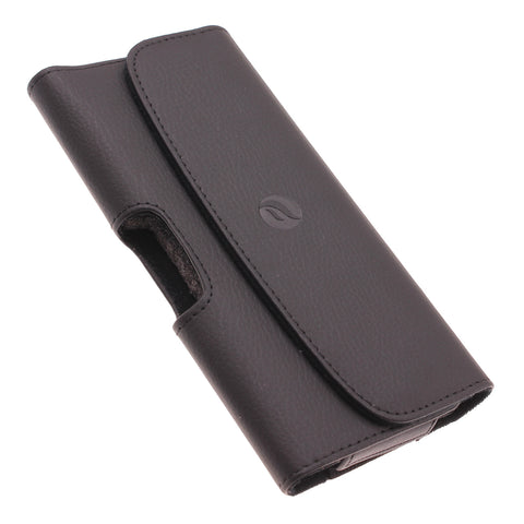 Leather Case Belt Clip Holster Cover - LCASE59 - Black - Fonus A29