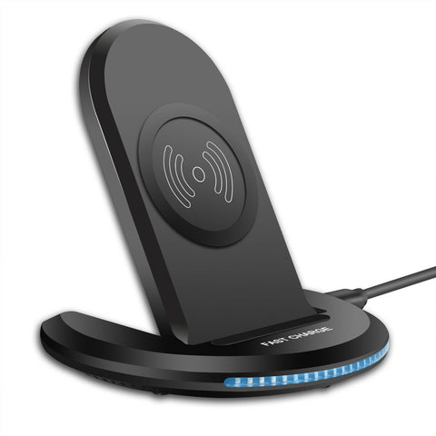 Wireless Charger 15W Fast Folding Stand 2-Coils Charging Pad - ZDA82