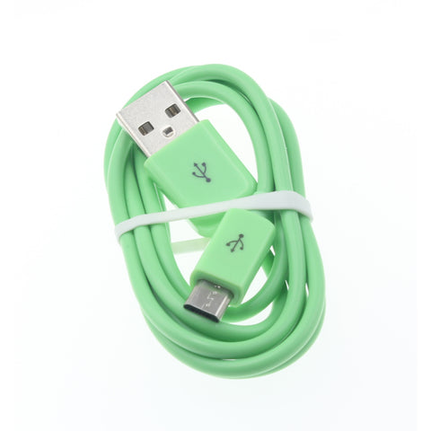 Micro USB Cable Charger Cord - TPE - Green - Fonus D12