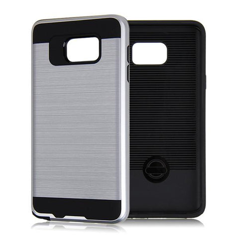 Hybrid Case Dual Layer Armor Defender Cover - Dropproof - Silver - Selna N35