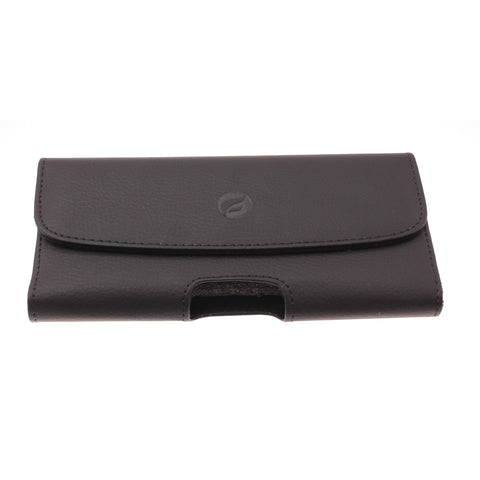 Leather Case Belt Clip Holster Cover - LCASE60 - Black - Fonus A04
