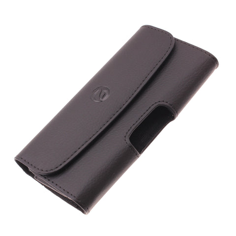 Leather Case Belt Clip Holster Cover - LCASE57 - Black - Fonus D06