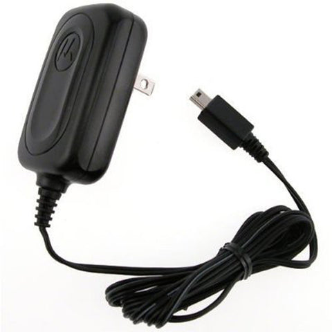Motorola OEM Mini USB Home Wall Travel Charger - Folding Prongs