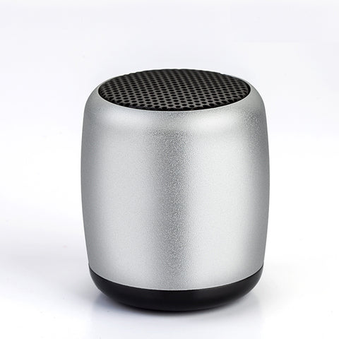 Mini Wireless Speaker - Hands-free Mic - Remote Selfie Shutter - Silver - K87