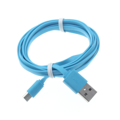 3ft Micro USB Cable Charger Cord - Flat - Blue - Fonus B70