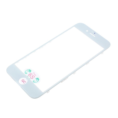 Outer Front Glass Lens Replacement with Bezel Frame for iPhone 6S - White - L51