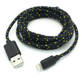 6ft USB to Lightning Cable Power Cord - Braided - Black - F35