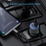 36W 2-Port USB Car PD Quick Charger - Fonus F49