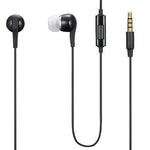 Earphones 3.5mm Headphones Wired Earbuds - Black - T35
