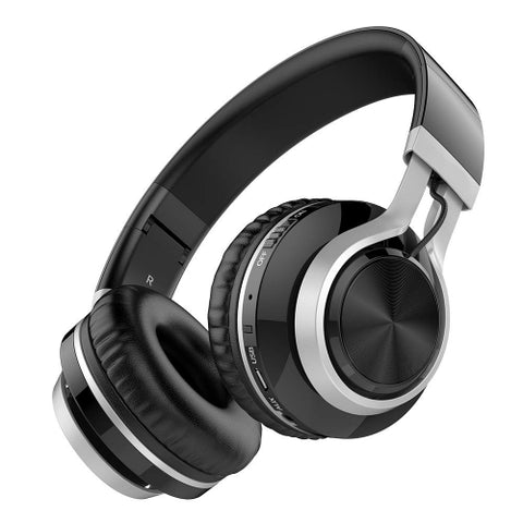 Over the Head Wireless Headphones Folding Headset - Black - L83