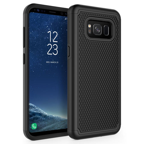 Hybrid Case Dual Layer Armor Defender Cover - Shockproof - Black - Selna L15