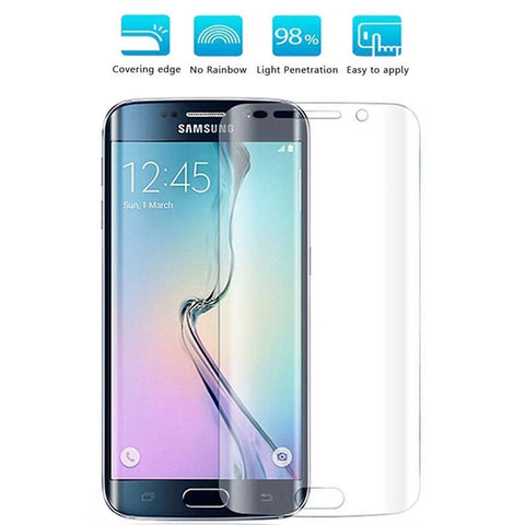 Samsung Galaxy S6 Edge - Screen Protector Silicone TPU Film - Curved - Full Cover - HD Clear