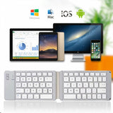 Bluetooth Keyboard Wireless Folding Rechargeable Portable - V26