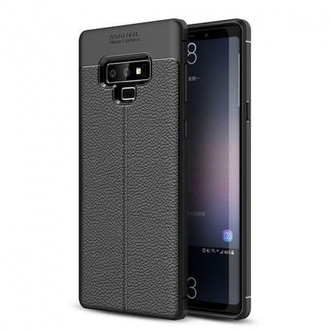 Ultra Slim TPU Leather Case Cover - Shock Absorbent - Black - Fonus V01