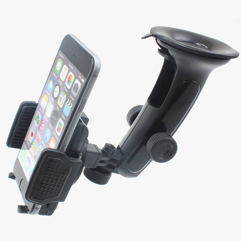 Car Mount Holder for Dashboard and Windshield - Multi Angle Swivel - Fonus C73