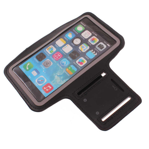 Sports Armband Gym Running Band Neoprene - Black - Fonus D95