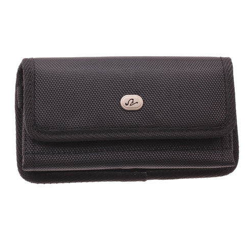 Case Belt Clip Canvas Rugged Holster Cover - LCASE41 - Black - D70