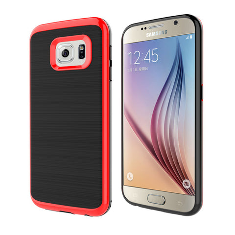 Hybrid Case Dual Layer Armor Bumper Cover - Dropproof - Red - Selna N43