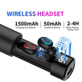 TWS Wireless Earphones with LED Display and Power Bank - Black - L85