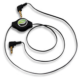 Retractable Audio Cable Aux-in Car Stereo Speaker Cord - Right Angle - Black - Fonus T13