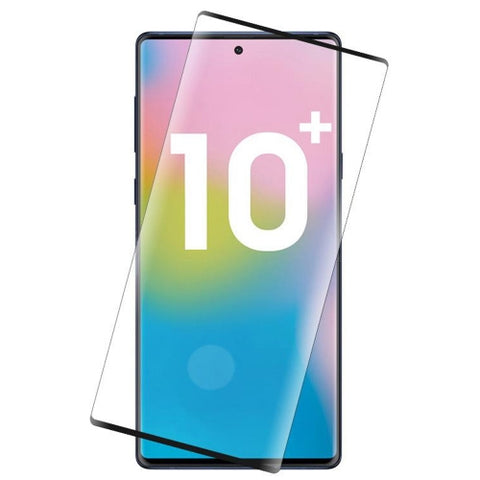 Samsung Galaxy Note 10 Plus - Tempered Glass Screen Protector - 3D Curved - Full Cover - Fingerprint Unlock