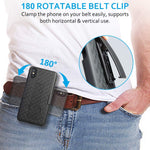 Case Holster Combo Swivel Belt Clip - Dropproof - Kickstand - Black - Fonus L43