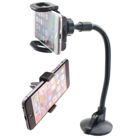 2-in-1 Car Mount Phone Holder for Windshield and Air Vent - Fonus R43