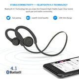 Sweatproof Hi-Fi Sports Headset Wireless Earphones Mic