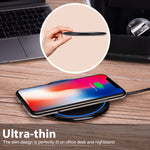 7.5W and 10W Fast Charging Ultra Slim Wireless Charger Pad